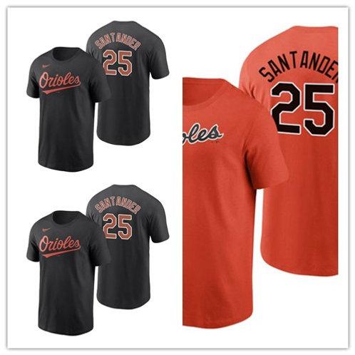 Men Anthony Santander T-Shirt Orange, Black