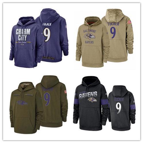 Men Justin Tucker Salute to Service Hoodie Purple, Black, Olive, Khaki