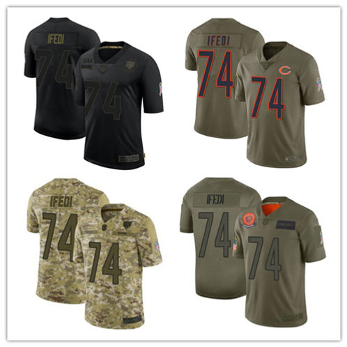 Youth Germain Ifedi Limited Salute to Service Olive, Camo, Black