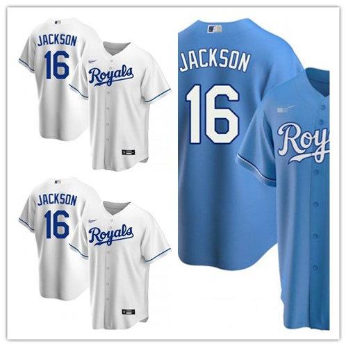 Men Bo Jackson  2020/21 Replica White, Light Blue