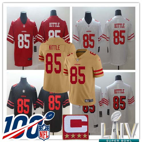 Youth George Kittle Vapor Limited Scarlet, White, Black, Color Rush, Gold