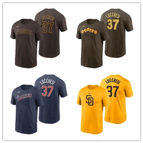 Men Joey Lucchesi T-Shirt Brown, Gold, Navy Blue