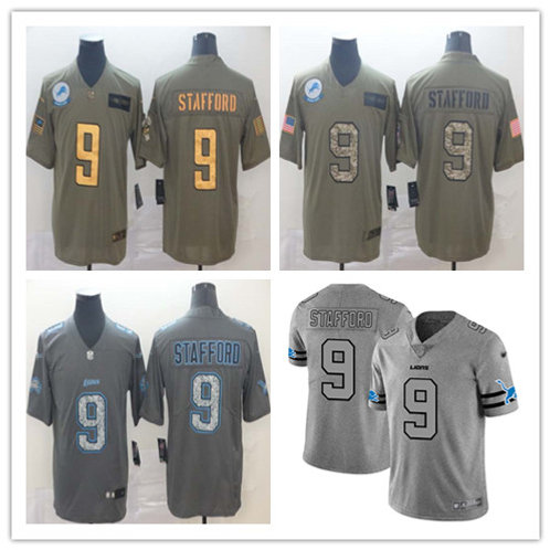 Men Matthew Stafford Limited Salute to Service Olive, Static, Gridiron