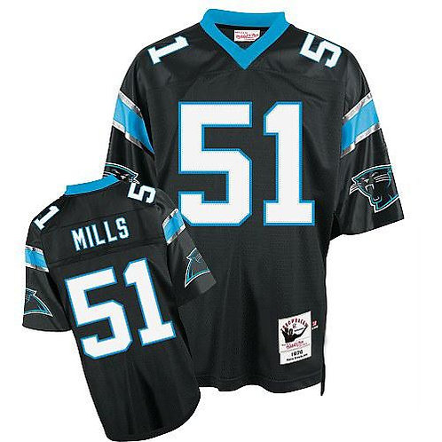Men Sam Mills Throwback Black