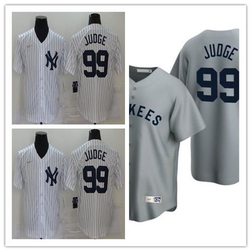 Men Aaron Judge Cooperstown White, Gray
