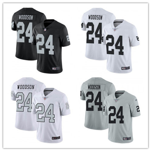 Men Charles Woodson Vapor Limited Black, White, Color Rush, Silver