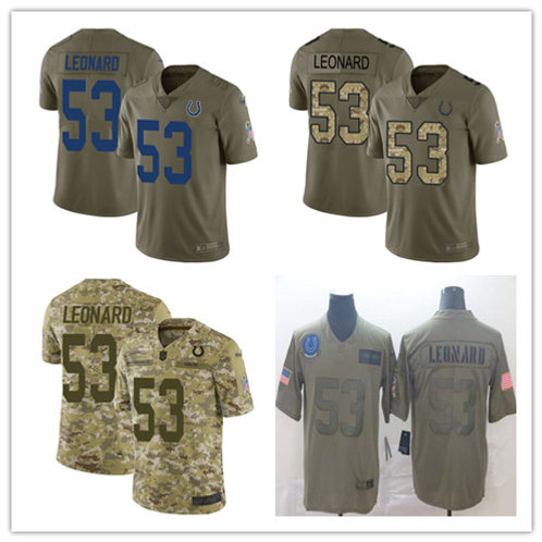 Youth Darius Leonard Limited Salute to Service Olive, Camo
