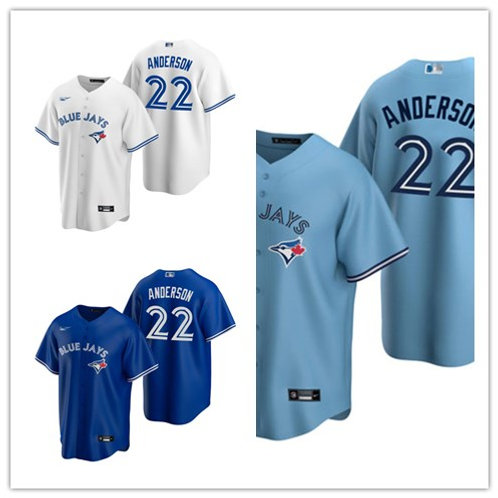 Youth Chase Anderson 2020/21 Replica White, Royal Blue, Light Blue