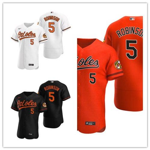 Men Brooks Robinson 2020/21 Authentic White, Orange, Black