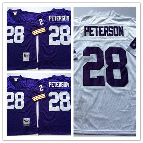 Men Adrian Peterson Throwback Purple, White