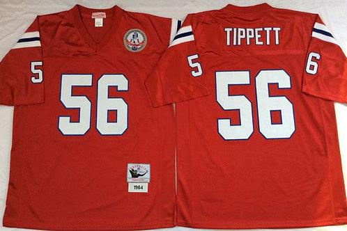 Men Andre Tippett Throwback Red