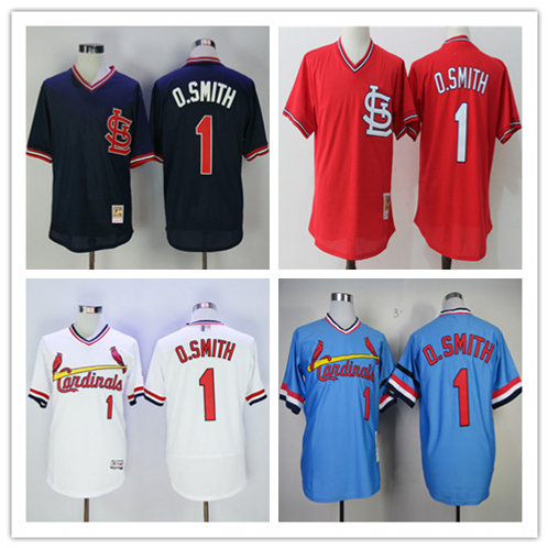 Men Ozzie Smith Cooperstown White, Red, Light Blue