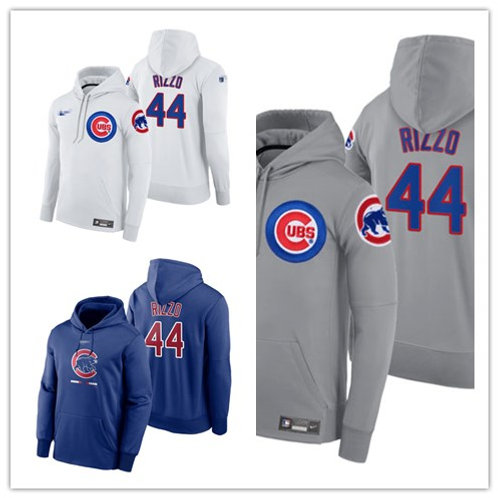 Men Anthony Rizzo Pullover Hoodie White, Gray, Royal Blue