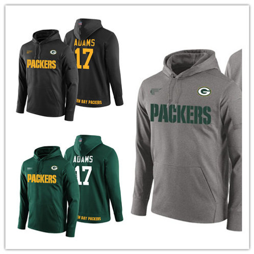 Men Davante Adams Hoodie Green, Gray, Black
