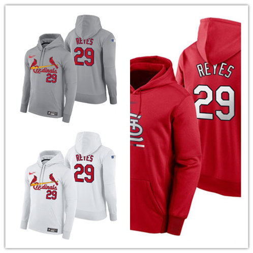 Men Alex Reyes Pullover Hoodie White, Gray, Red