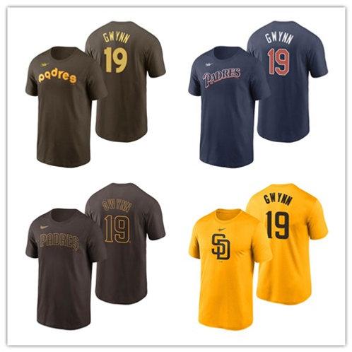 Men Tony Gwynn T-Shirt Brown, Gold, Navy Blue