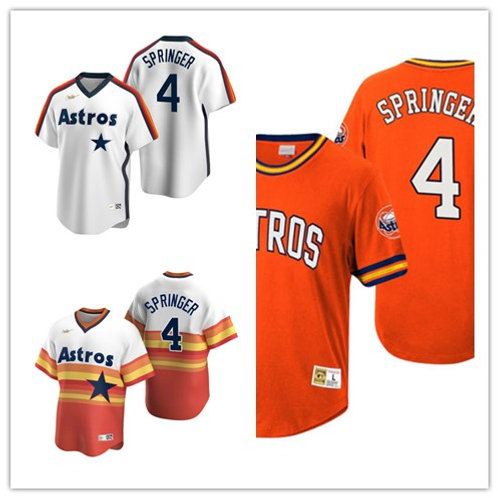 Men George Springer Cooperstown White, Orange