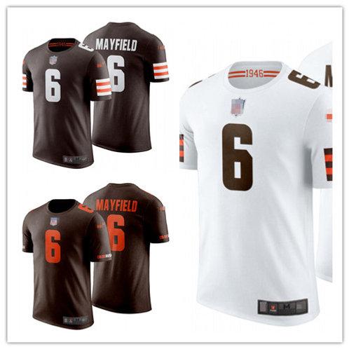 Men Baker Mayfield T-Shirt Brown, White