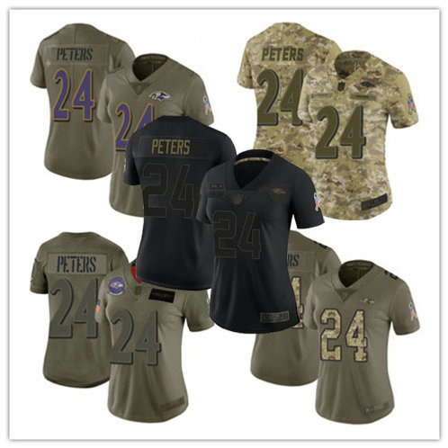 Women Marcus Peters Limited Salute to Service Olive, Camo, Black