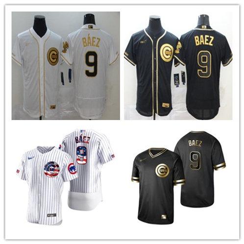 Men Javier Baez White Golden, Black Golden, Stars/Stripes