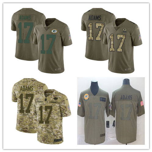 Men Davante Adams Limited Salute to Service Olive, Camo