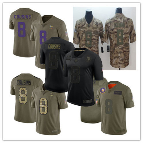 Youth Kirk Cousins Limited Salute to Service Olive, Camo, Black