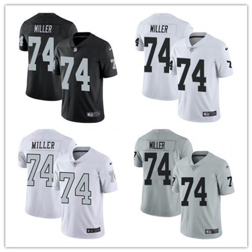 Youth Kolton Miller Vapor Limited Black, White, Color Rush, Silver