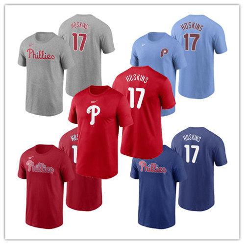 Men Rhys Hoskins T-Shirt Red, Gray, Blue