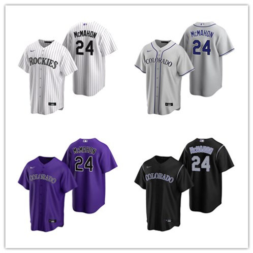 Men Ryan McMahon 2020/21 Replica White, Gray, Purple, Black