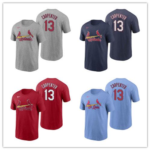 Men Matt Carpenter T-Shirt Gray, Red, Navy Blue, Light Blue