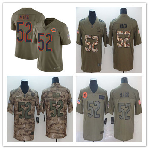 Youth Khalil Mack Limited Salute to Service Olive, Camo