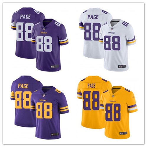 Men Alan Page Vapor Limited Purple, White, Color Rush, Gold