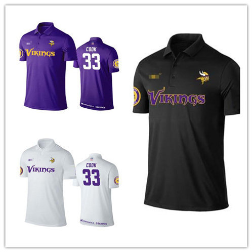 Men Dalvin Cook Shirt Polo Purple, White, Black