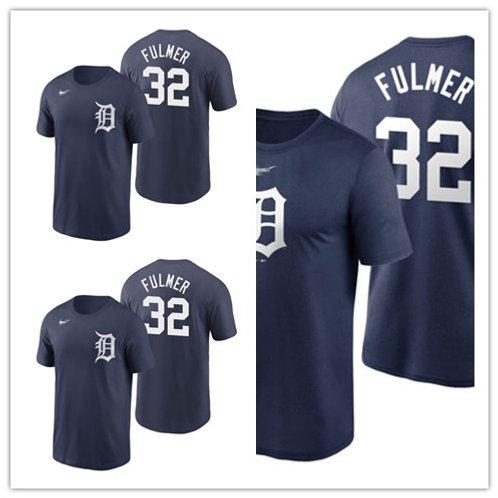 Men Michael Fulmer T-Shirt Navy Blue