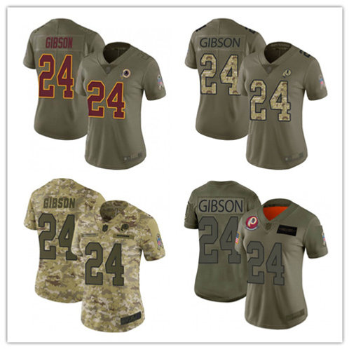 Women Antonio Gibson Limited Salute to Service Olive, Camo
