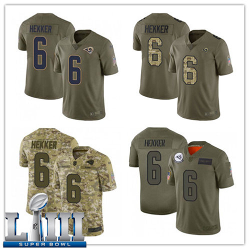 Youth Johnny Hekker Limited Salute to Service Olive, Camo