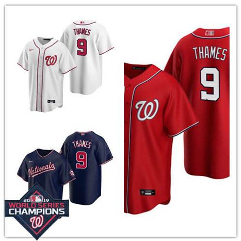 Youth Eric Thames 2020/21 Replica White, Navy Blue, Scarlet