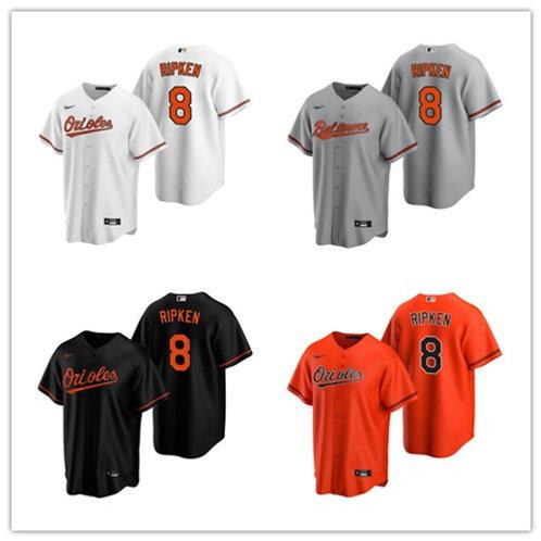 Men Cal Ripken Jr 2020/21 Replica White, Gray, Orange, Black