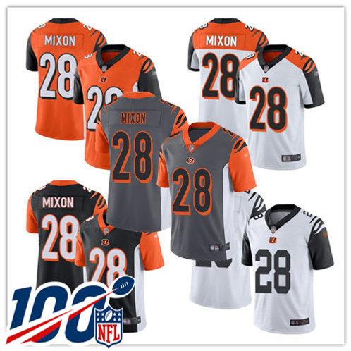 Men Joe Mixon Vapor Limited Black, White, Orange, Rush, Silver