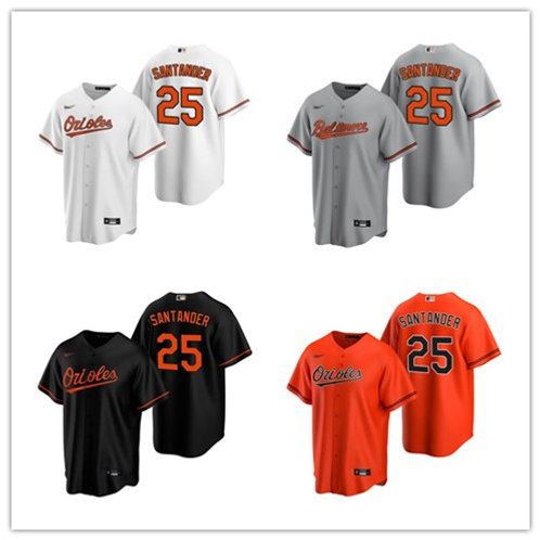 Men Anthony Santander 2020/21 Replica White, Gray, Orange, Black