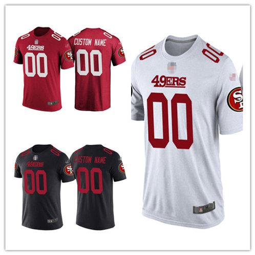 Men Custom T-Shirt Red, White, Black