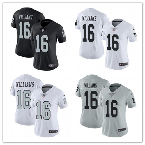 Women Tyrell Williams Vapor Limited Black, White, Color Rush, Silver