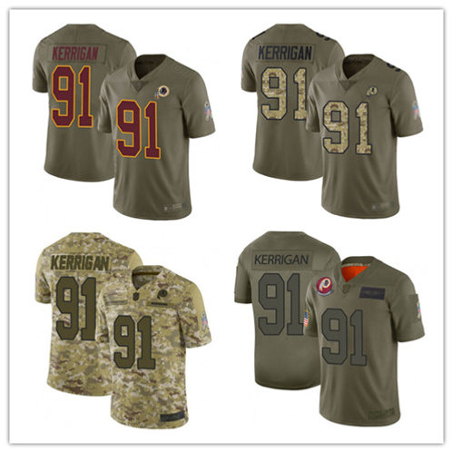 Youth Ryan Kerrigan Limited Salute to Service Olive, Camo