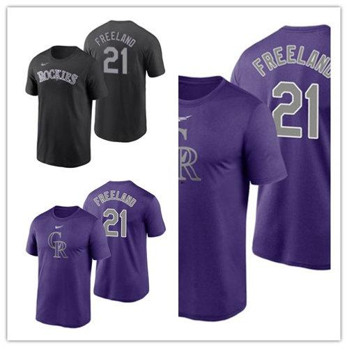 Men Kyle Freeland T-Shirt Purple, Black