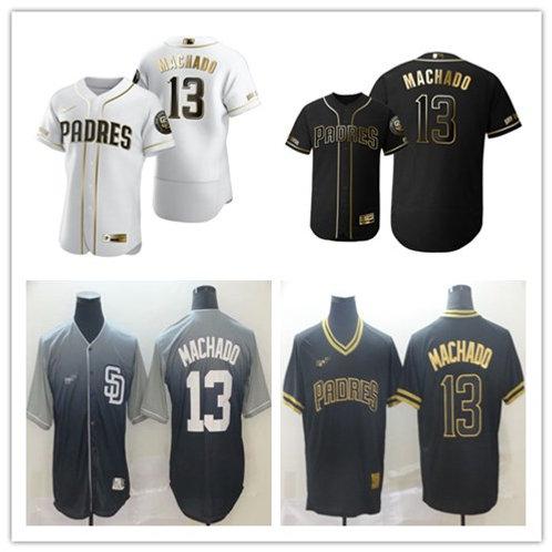 Men Manny Machado White Golden, Black Golden, Navy Blue