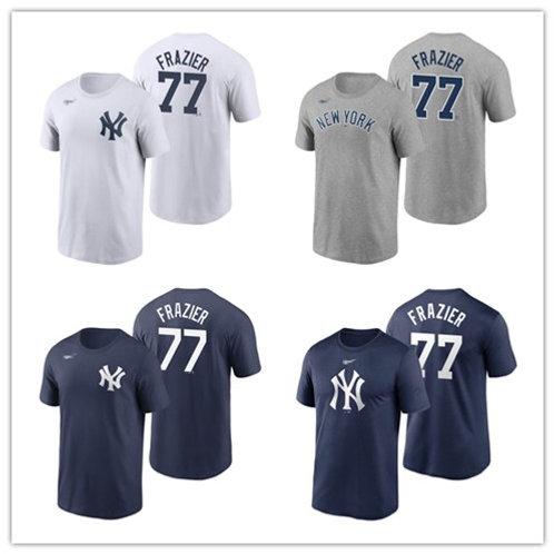 Men Clint Frazier T-Shirt White, Gray, Navy Blue