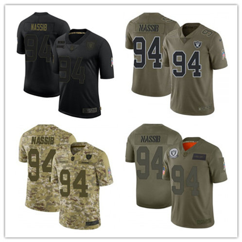 Youth Carl Nassib Limited Salute to Service Olive, Camo, Black