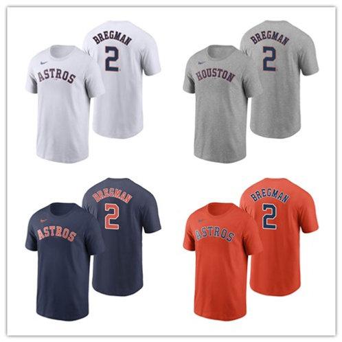 Men Alex Bregman T-Shirt White, Gray, Orange, Navy Blue