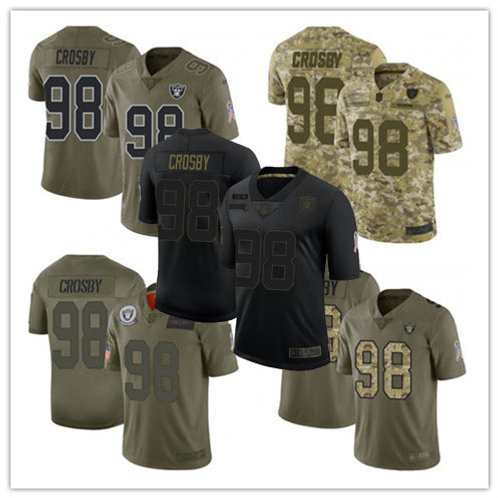 Men Maxx Crosby Limited Salute to Service Olive, Camo, Black