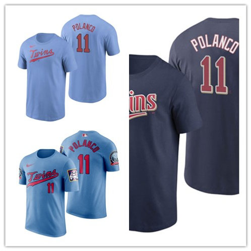 Men Jorge Polanco T-Shirt Light Blue, Navy Blue